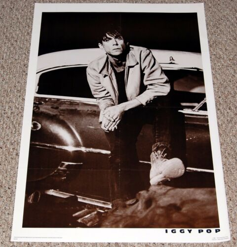 IGGY POP In Front Of Car Poster 1986 Nice Man Merch NMP22 Punk Greg Gorman