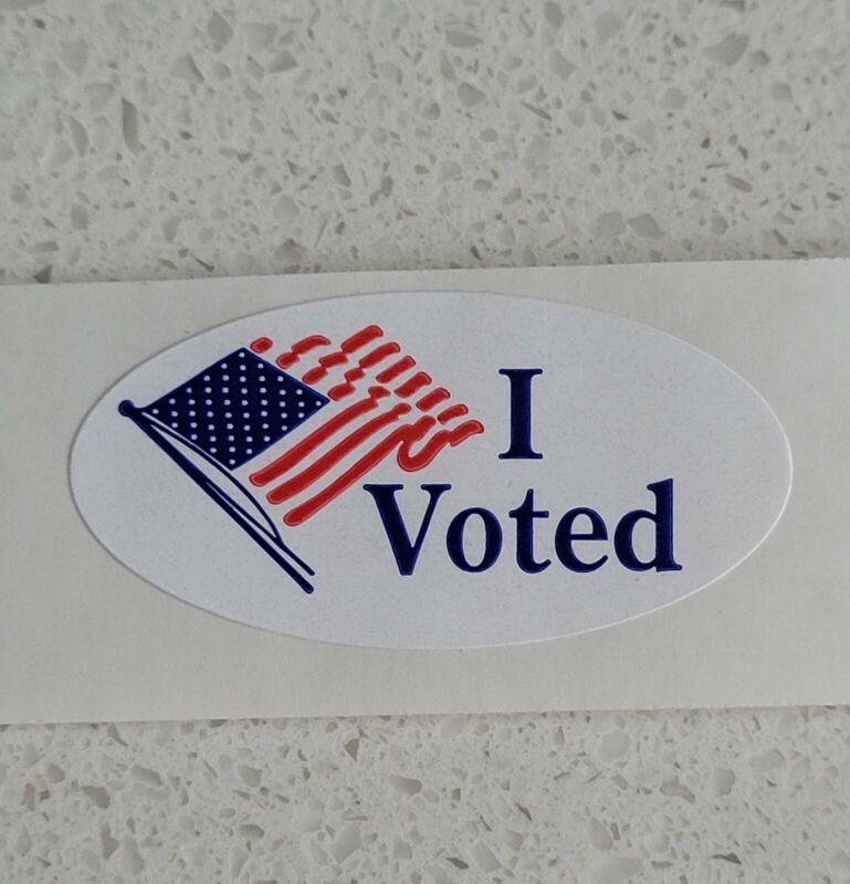 """(Qty 5) I Voted - vinyl sticker 1.5"""" sticker"""