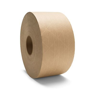 Gummed Paper Tape 72 Mm X 450 Reinforced Water Activated Brown Tapes 20 Rolls