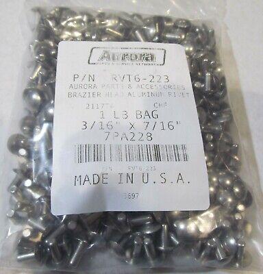 1-lb Bag 215 Usa Made Solid Aluminum Rivets Brazier Head 316 X 716 2117t4