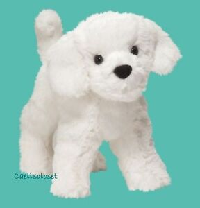 Douglas Plush Dandelion Puff BICHON FRISE Stuffed White Puppy Dog Cuddle Toy NEW