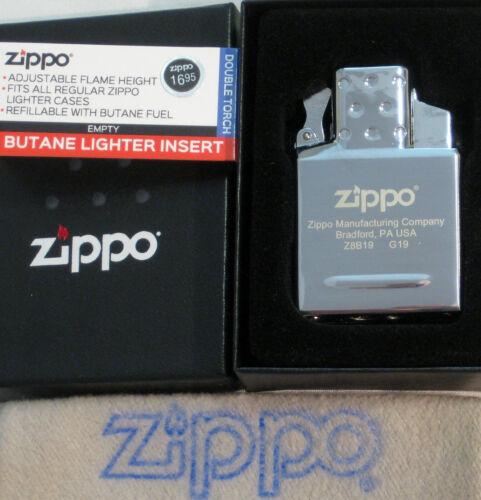 ZIPPO  BUTANE Lighter INSERT Empty DOUBLE TORCH 65827 Push Button NEW 2020