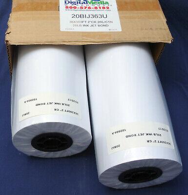36x300 20lb Bond Designjet Plotter Paper 2 Rolls 20bij363u
