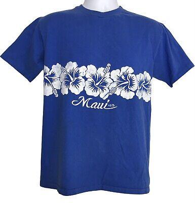 80s Tops, Shirts, T-shirts, Blouse   90s T-shirts Maui Hawaii Vintage Single Stitch 1985 T Shirt Large 1980's Blue $18.00 AT vintagedancer.com