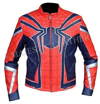 Spiderman Armor Avengers Infinity War Leather Costume Jacket - Leather Spiderman Costume