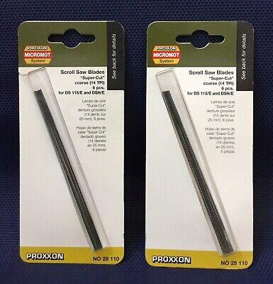 "Coarse Scroll Saw Blade (2 Packs Proxxon 28110 Scroll Saw Blades ""Super Cut"" Coarse (14 TPI), 6-pc ea.)"