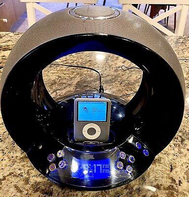 JBL on time Audio dock Alarm Clock AUX Radio Apple iPod / With iPod Nano 4GB