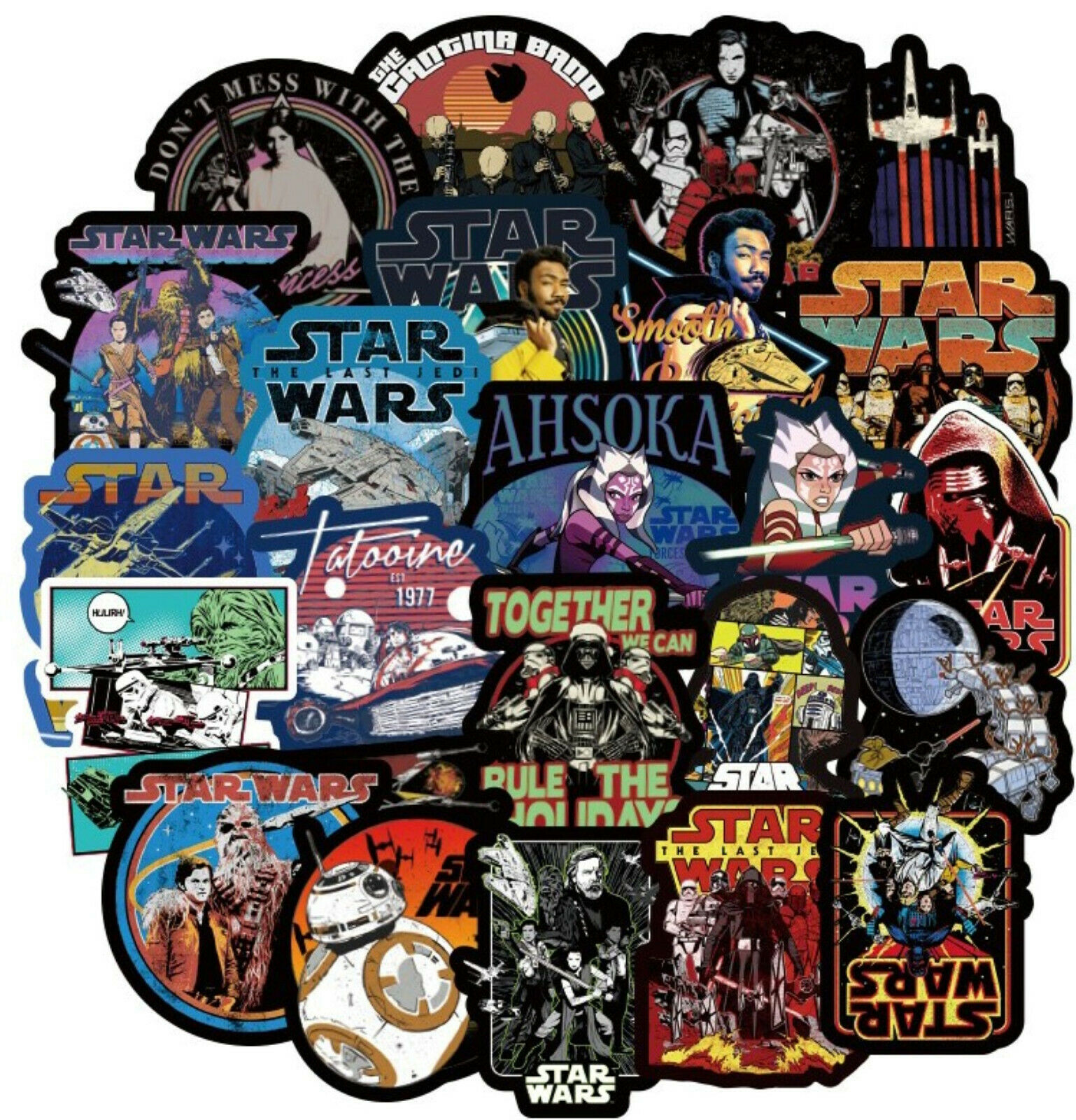 Home Decoration - 100pc Star Wars Vinyl Stickers Bomb Car Laptop Skateboard Luggage Graffiti Decal