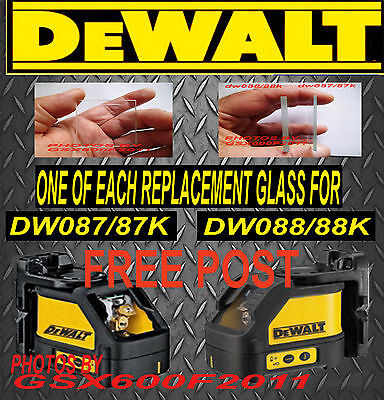 DEWALT REPLACEMENT GLASS DW087/DW087K/DW088/DW088K /SCREEN /LASER /CROSS LINE