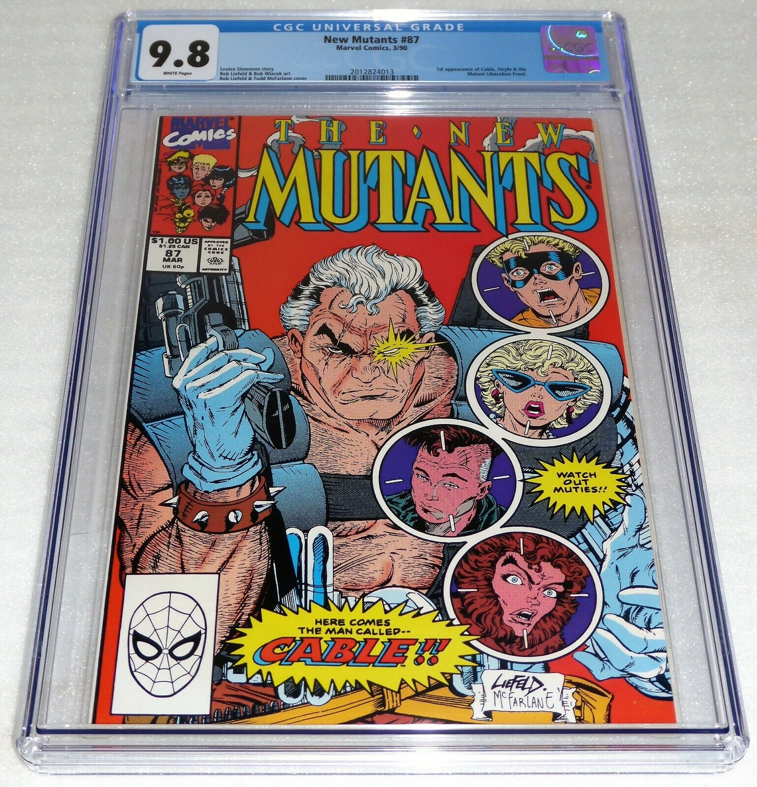 New Mutants #87 CGC Universal Grade Comic 9.8 1st Appearance of Cable Marvel POW