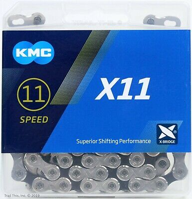 X11EL Silver Bicycle Chain 11s 114L Fit SRAM Shimano Road MTB Bikes KMC X11SL