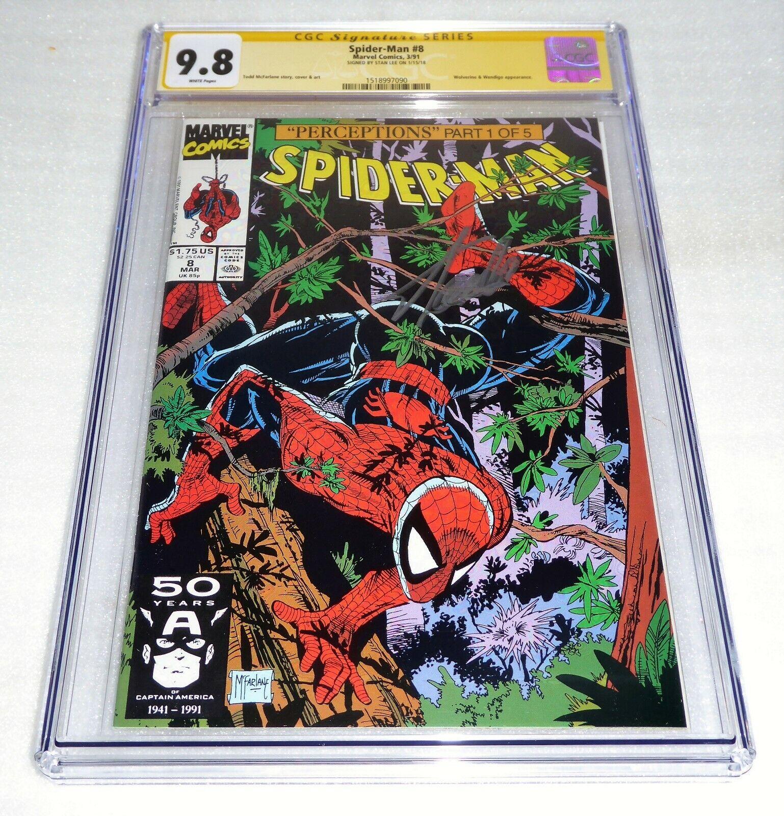 Spider-Man #8 CGC SS 9.8 Signature Autograph STAN LEE Wolverine & Wendigo Battle
