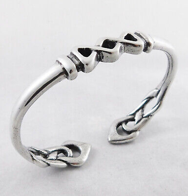Celtic Design Torc Bangle English Pewter Hand Made in England | Small | TB06