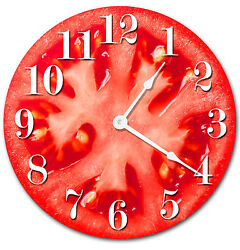 TOMATO VEGETABLE KITCHEN CLOCK Large 10.5 inch Wall Clock Home Decor 2017