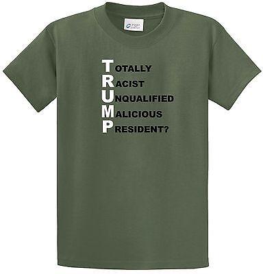 Trump Acronym Anti Trump T Shirt Political Activist  Dumptrump Joke Funny Not