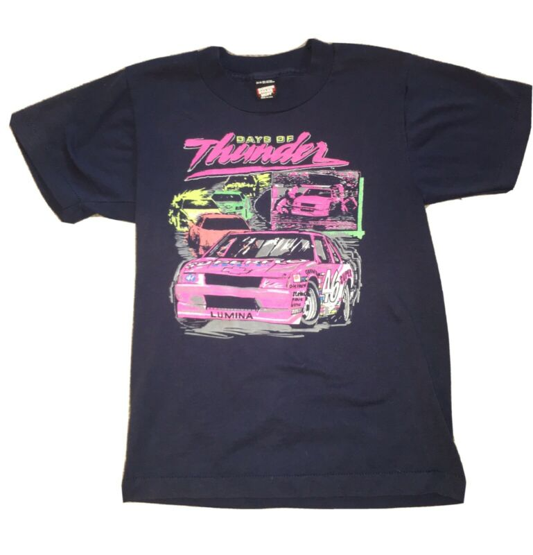Vintage 90s nascar Days of Thunder graphic T Shirt Screen Stars Best Kids 14-16