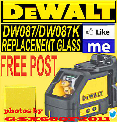 DEWALT DW087/DW087K REPLACEMENT GLASS/SCREEN/LASER LEVEL/ REPAIR  CROSS LINE