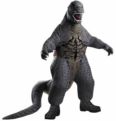 CHILD GODZILLA BLOWUP INFLATABLE JUMPSUIT 4 PC FUNNY COSTUME RU884740](Funny Teen Boy Costumes)