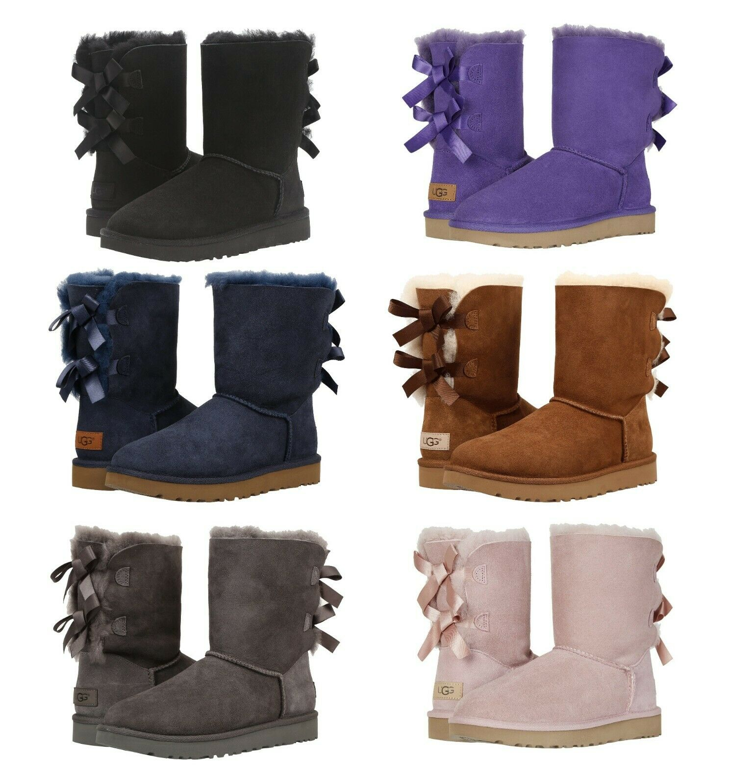 NEW Authentic UGG Women's Bailey Bow II Winter Boots Shoes B