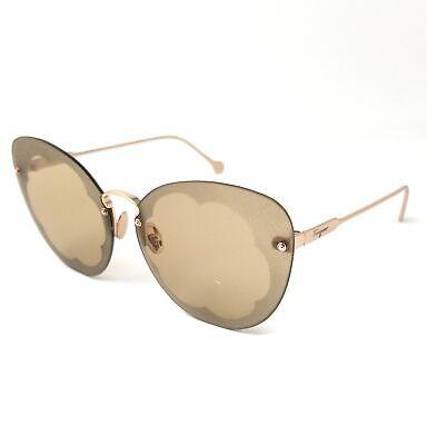 Salvatore Ferragamo Sunglasses SF178S FIORE 718 Shiny Gold Women's 63x13x140