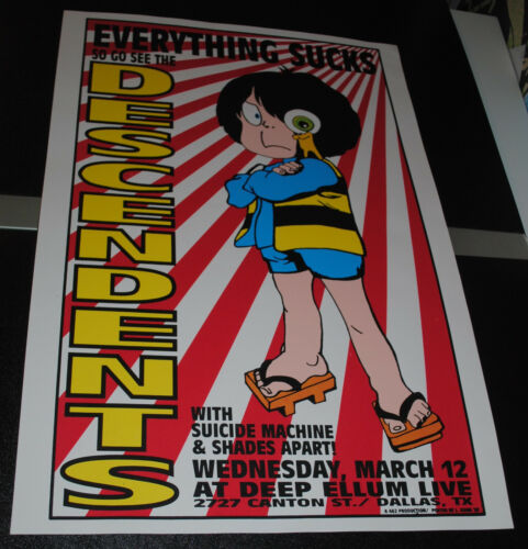 The Descendents Dallas 1997 concert poster rare Lindsey Kuhn Swamp art print