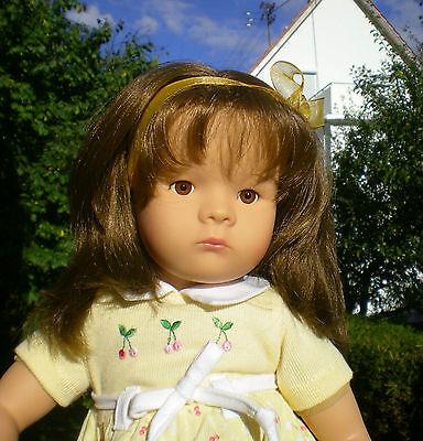 Götz Puppe 42cm Mädchen brünett  Manufakturpuppe Spielpuppe + Plüschtier Doll