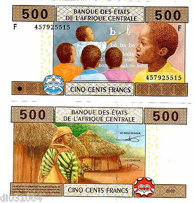 EQUATORIAL GUINEE AFRIQUE CENTRALE AFRICA Billet 500 FRANCS 2002 P506F NEUF UNC