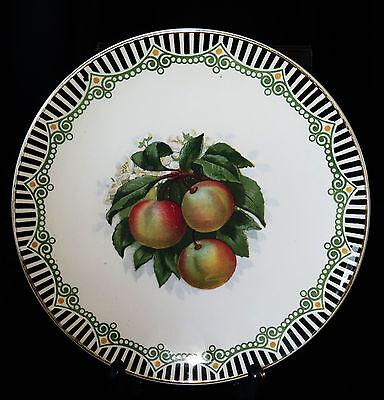 6395:Villeroy&Boch, Mettlach,Teller,Pfirsiche, Modell 1495,wohl um 1900. Nr.2