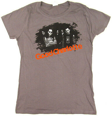 GOOD CHARLOTTE T-shirt Pop Punk Alt Rock Baby Doll Tee JUNIORS XL Gray New for sale  Shipping to Canada