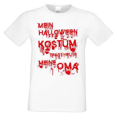 Mein Halloween Kostüm trägt heute meine Oma Halloween Herren Männer (Herr Weiß Halloween Kostüm)