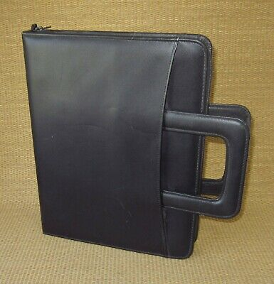 Monarchfolio 1.25 Rings Black Leather Day-runnertimer Plannerbinder Brief