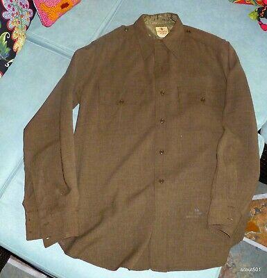 1940s Men's Shirts, Sweaters, Vests Vintage 1940s Military Bendone New York Shirt Men's Sanforized $50.00 AT vintagedancer.com
