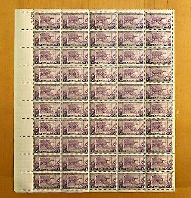 US Scott #783 Oregon-Full sheet of 50-MNH-No perf seps