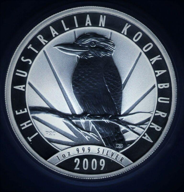2009 Australia Kookaburra 1 oz .999 Silver in Mint Capsule ~ Low Mintage