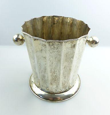 #e4918 Toller alter Sektkühler in 900 (Ag) Silber