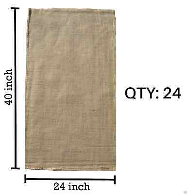 (24) 24 x 40 Burlap Bags Wholesale Bulk - Sacks Potato Race Sandbags Home Depot