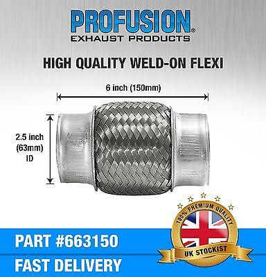 Weld On 63mm X 150mm Exhaust Flexible Joint Repair Flexi Pipe tube Flex