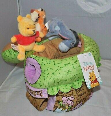Disney Baby Winnie the Pooh Plush Treehouse Set w/ Tigger Eeyore Stuffed Toy NEW