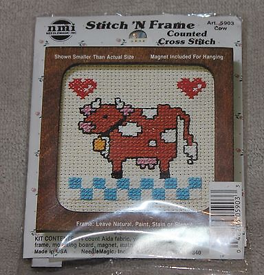 Cow Stitch N Frame Nmi  With Magnet