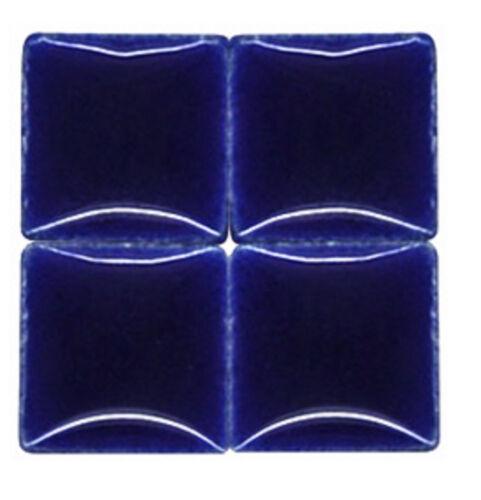 Deep Blue Ceramic Mosaic Tiles - 3/8 inch - 50 Tiles - Craft Art Supplies