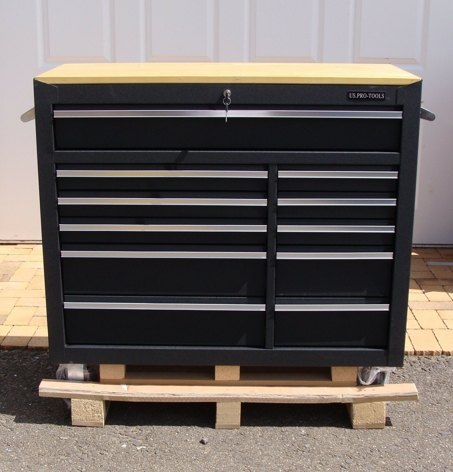 Us Cabinet: 23 US Pro Tools Black Tool Chest Box Roller Cabinet