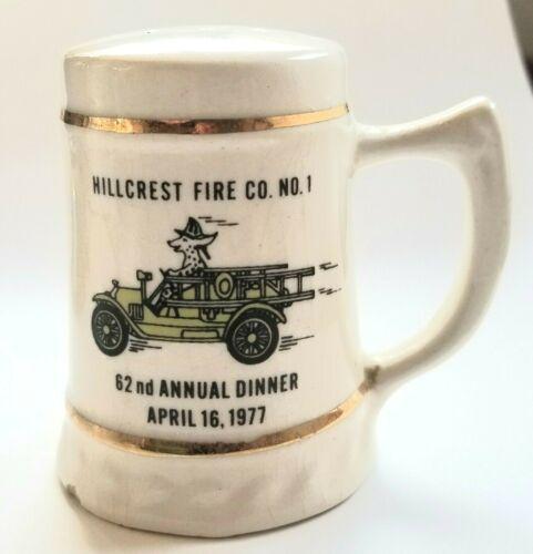 Vintage Porcelain 1977 Hillcrest Fire Co. NJ Salt or Pepper Shaker Annual Dinner
