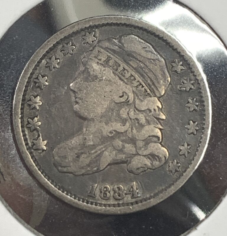 1834 Bust Dime VF JR2 R5! Nice Original Example! Scarce! Mr. C