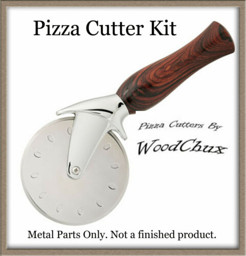 Artisan Premium Pizza Cutter Kit Stainless Steel Kit Woodturning Lathe
