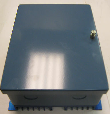 Gardner Blue Steel Enclosure With Back Heat Sink 2.5 X 6 X 8 2 Knockouts