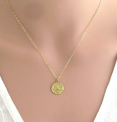 Ancient Jewish shekel gold coin necklace, big revolt coin , Jewish jewelry