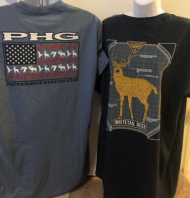 2 x Columbia PHG Performance Hunting Gear T-Shirt Size XL NWT