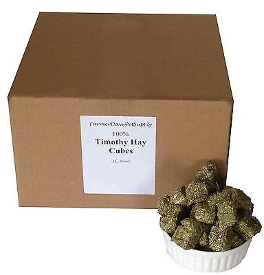 FarmerDavePetSupply 15 lb PREMIUM Timothy HAY CUBES -- Rabbits & -