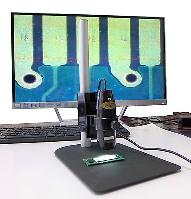 Digital Microscope With Stand 10x-200x Usb Video Camera Measure Software