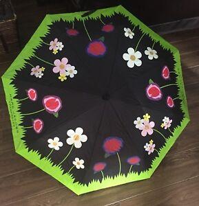 "Marc Jacobs ""New""Umbrella Daisy Floral Print compact travel folding sun or rain"
